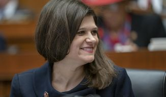 Rep. Haley Stevens, D-Mich., sits with fellow Democrats on the House Education and Labor Committee during a bill markup, on Capitol Hill in Washington, Wednesday, March 6, 2019. House Democrats are rounding the first 100 days of their new majority taking stock of their accomplishments, noting the stumbles and marking their place as a frontline of resistance to President Donald Trump. (AP Photo/J. Scott Applewhite)