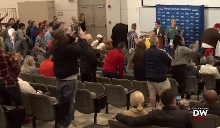 A student at the University of Missouri-Kansas City is facing charges after he allegedly attacked conservative columnist Michael Knowles during a speaking event Thursday. (YouTube/@The Daily Wire)
