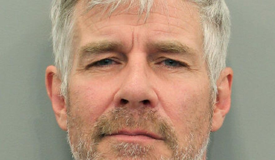 This undated photo provided by the Houston Police Department shows Timothy Williams. The actor and spokesman for the discount hotel website Trivago.com has been arrested in Texas on a misdemeanor driving while intoxicated charge. Court records show 52-year-old Williams was arrested Wednesday, April 10, 2019, in Houston and freed on $100 bond. (Houston Police Department via AP)