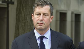In this Aug. 31, 2018, photo, W. Samuel Patten leaves the federal court in Washington, Friday, Aug. 31, 2018.   Washington political consultant initially entangled in the Russia investigation was sentenced to three years of probation for illegal lobbying and skirting the ban on foreign donations to President Donald Trump's inaugural committee. (AP Photo/Jose Luis Magana) **FILE**