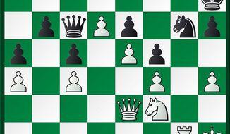 Janowski-Reshevsky after 38...Qb7-c6.