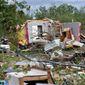 More than 30 homes were damaged when a tornado flattened part of Franklin, Texas. (ASSOCIATED PRESS)