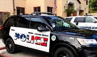 Laguna Beach's city council will hold a vote on April 16, 2019, to determine the fate of patriotic police vehicles. (Image: Laguna Beach Police Department)