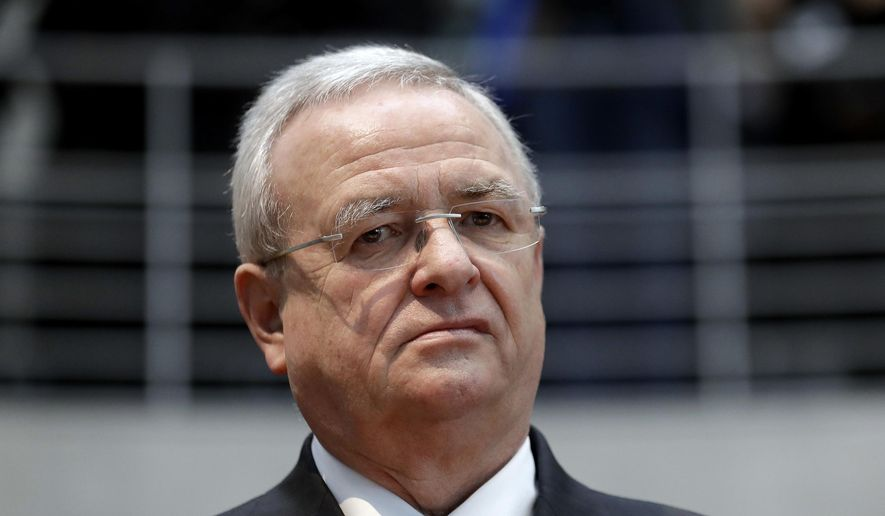 In this Jan. 19, 2017, file photo Martin Winterkorn, former CEO of the German car manufacturer Volkswagen, arrives for a questioning at an investigation committee of the German federal parliament in Berlin, Germany. (AP Photo/Michael Sohn, file)