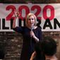 Democratic presidential candidate Sen. Kirsten Gillibrand's fundraising mirrored her performance in the polls where she earns 1% support. , D-N.Y., addresses a gathering during a campaign stop at a coffee house in Dover, N.H., Friday, April 5, 2019. (AP Photo/Charles Krupa) (Associated Press)