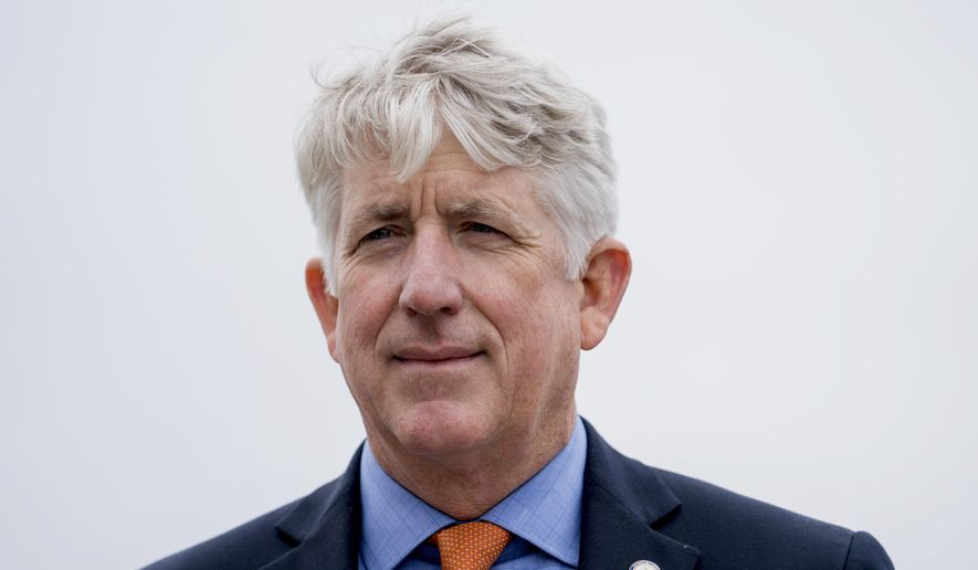 In this Feb. 26, 2018, photo, Virginia Attorney General Mark Herring attends a news conference near the White House in Washington. A series of scandals surrounding Virginia's top Democrats has made it difficult for them to raise money in a key election year. Herring, Gov. Ralph Northam and Lt. Gov. Justin Fairfax all posted anemic campaign finance reports Monday, April 15, that are far below what their predecessors have raised at similar points in past election cycles. (AP Photo/Andrew Harnik)
