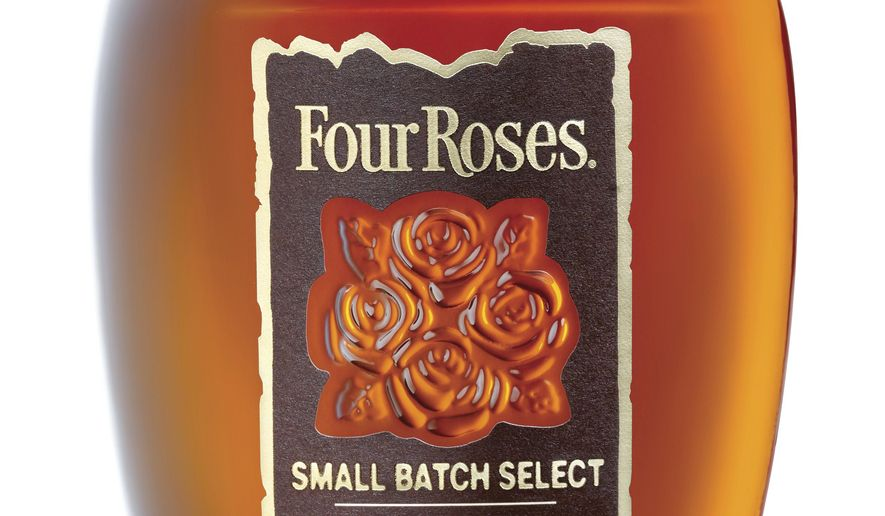 This photo provided by Four Roses shows shows a bottle of Four Roses Small Batch Select.  The iconic Kentucky bourbon that reintroduced itself to American whiskey drinkers in the past decade is ready to ramp up production in hopes of gaining a greater foothold in the U.S. Four Roses Distillery on Tuesday, April 16, 2019, celebrated the completion of a $55 million expansion that will double production capacity at its plant at Lawrenceburg, Ky.   (Four Roses via AP)