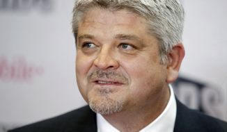 FILE - In this Wednesday, June 21, 2017, file photo, Edmonton Oilers coach Todd McLellan poses before the NHL Awards, in Las Vegas. On Tuesday, April 16, 2019, the Los Angeles Kings announced they have hired McLellan as their new head coach. The former Sharks and Oilers coach replaces Willie Desjardins. (AP Photo/John Locher, File)