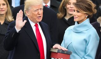 Could it happen again? Voters are happy with President Trump as the GOP nominee. Here he is sworn in as president on Jan. 20, 2017. (Associated Press)