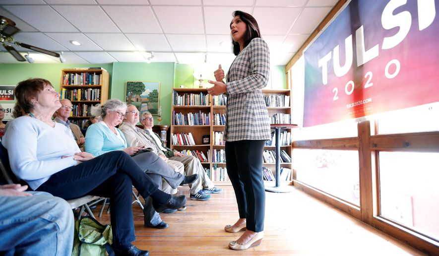 Rep. Tulsi Gabbard zigs when Democratic contenders zag on campaign issues