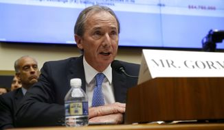 FILE - In this April 10, 2019, file photo, Morgan Stanley chairman and CEO James Gorman testifies before the House Financial Services Committee during a hearing on Capitol Hill in Washington. Morgan Stanley reports financial results on Wednesday, April 17. (AP Photo/Patrick Semansky, File)