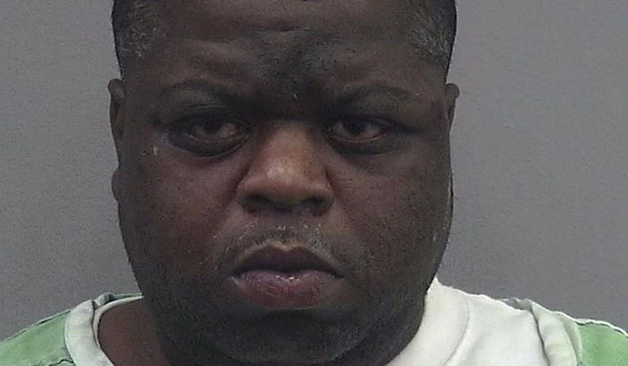 In this undated photo provided by the Alachua County Jail, Antonio Mosley is shown. On Sunday, April 14, 2019, sixty-five-year-old Clarese Gainey heard a noise and saw Mosley, dressed in boxers, trying to break into her car. She took matters into her own hands, picked up her softball bat and hit Mosley.  He is being held in the Alachua County Jail on burglary and drug charges.(Alachua County Jail via AP)
