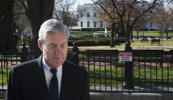 In this March 24, 2019, photo, Special Counsel Robert Mueller walks past the White House after attending services at St. John's Episcopal Church, in Washington. (AP Photo/Cliff Owen) **FILE**