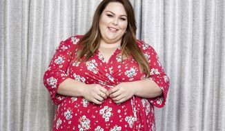 """FILE - In this April 4, 2019 file photo, Chrissy Metz poses for a portrait in promotion of her new film """"Breakthrough"""" at the Four Seasons Hotel in Los Angeles. While the actress scored a few minor movie roles before finding fame on TV's """"This is Us,"""" """"Breakthrough,"""" which opened in theaters Wednesday, April 17, marks Metz's feature-starring debut. (Photo by Rebecca Cabage/Invision/AP, File)"""