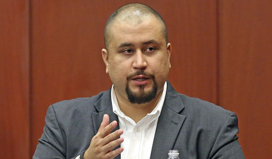 In this Sept. 13, 2016, file photo, George Zimmerman looks at the jury as he testifies in a Seminole County courtroom in Orlando, Fla. Zimmerman, the ex-neighborhood watch volunteer who killed an unarmed black teen in Florida in 2012 has been banned from the dating app Tinder. An emailed statement from Tinder cited users' safety as a reason for removing George Zimmerman's profile. (Red Huber/Orlando Sentinel via AP, Pool, File)