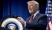 President Donald Trump speaks at an Opportunity Zone conference with state, local, tribal, and community leaders South Court Auditorium of the Eisenhower Executive Office Building, on the White House complex, Wednesday, April 17, 2019, in Washington. (AP Photo/Andrew Harnik)