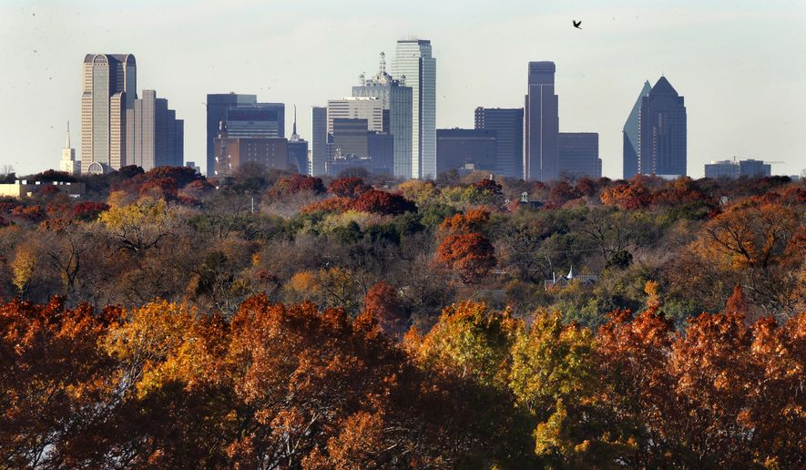 New population estimates show that the Dallas-Fort Worth area led American cities in new residents from 2017 to 2018. (Associated Press/File)