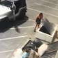 The Riverside County Department of Animal Services released surveillance video of a woman tossing seven newborn puppies into a dumpster in Southern California.