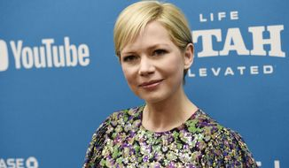 """FILE - In this Jan. 24, 2019, file photo, Michelle Williams, a cast member in """"After the Wedding,"""" poses at the premiere of the film on the opening night of the 2019 Sundance Film Festival in Park City, Utah. Michelle Williams and Phil Elverum have separated after less than of marriage. A person close to the couple who wasn't authorized to comment on the matter confirmed the split Friday, April 19, 2019. It was first reported by People magazine. The 38-year-old Oscar-nominated actress and the 40-year-old musician were wed last July in upstate New York. (Photo by Chris Pizzello/Invision/AP, File)"""