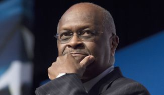 In this June 20, 2014, photo, Herman Cain, CEO, The New Voice, speaks during Faith and Freedom Coalition's Road to Majority event in Washington. (AP Photo/Molly Riley) **FILE**