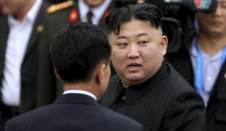 In this March 2, 2019, photo, North Korean leader Kim Jong Un prepares to depart Dong Dang railway station in Dong Dang, Vietnamese border town. North Korea on Tuesday, April 23, confirmed that Kim will soon visit Russia to meet with President Vladimir Putin. The summit would come at a crucial moment for tenuous diplomacy meant to rid the North of its nuclear arsenal, following a recent North Korean weapons test that likely signals Kim's growing frustration with deadlocked negotiations with Washington. (AP Photo/Minh Hoang)