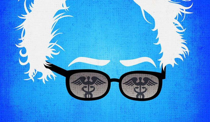 Bernie's Health Plan Illustration by Greg Groesch/The Washington Times