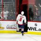 Washington Capitals forward Alex Ovechkin's outburst and ejection in the third period of Monday's Game 6 loss to the Carolina Hurricanes can be credited to the star's passion, coach Todd Reirden said. (ASSOCIATED PRESS)