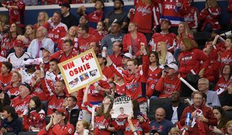 The Washington Capitals ranked ninth in attendance in the regular season. As of Tuesday, more than 2,300 tickets for Wednesday's Game 7 of the first-round playoff series were available on the secondary market. (Associated Press)