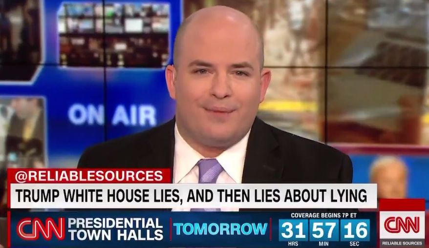 "Brian Stelter of CNN's ""Reliable Sources"" told viewers that reporters in ""Trump world"" have a duty to stand up for ""decency,"" April 22, 2019. (Image: CNN screenshot)"