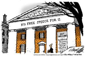 No Free Speech For U.