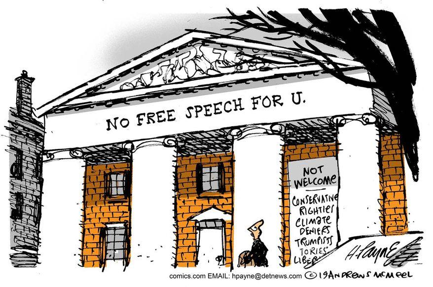 No Free Speech For U.