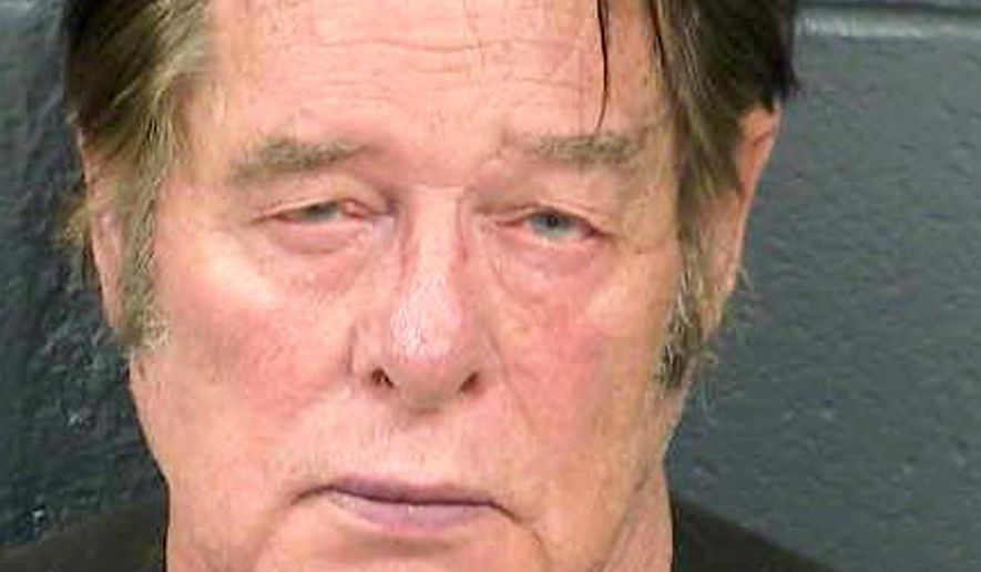 This April 20, 2019, booking photo from the Dona Ana County Sheriff's Office shows Larry Hopkins. Authorities say that Hopkins, 69, the leader of a group that has detained asylum-speaking migrants along the U.S.-Mexico border, was injured while he was jailed in Las Cruces, N.M., after being arrested on federal weapons charges. The Dona Ana County Sheriff's Office said Wednesday, April 24, 2019, in a statement that Hopkins was transferred Tuesday out of the county jail after suffering non-life threatening injuries Monday night. (Dona Ana County Sheriff's Office via AP)