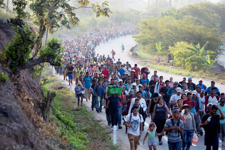Central American migrants in Escuintla, Chiapas State, Mexico, April 20, 2019.
