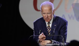 In this March 26, 2019, photo, former Vice President Joe Biden speaks at the Biden Courage Awards in New York. (AP Photo/Frank Franklin II) **FILE**