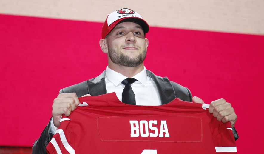 wholesale dealer c03eb 65041 Nick Bosa, San Francisco 49ers draft pick, puts sports and ...