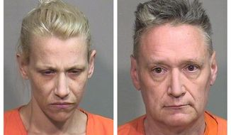 "This combination of undated photos provided by the McHenry County Sheriff's Department in Woodstock, Ill., on Thursday, April 25, 2019 shows JoAnn Cunningham, left, and Andrew Freund Sr. The two have been charged in the murder of their five year-old son, Andrew ""AJ"" Freund. A criminal complaint filed Thursday, April 25, 2019, outlines first-degree murder, aggravated battery and several other charges against the couple. A judge set bail at $5 million for each parent. (McHenry County Sheriff's Department via AP)"