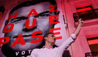 With 60% of the votes counted, Spain's Prime Minister Pedro Sanchez got 29% of the vote. This is Spain's third general election in four years. (ASSOCIATED PRESS)