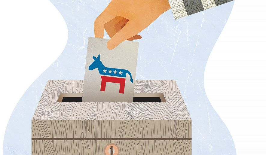 Felons Vote for Democrats Illustration by Greg Groesch/The Washington Times
