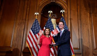 """""""There's a narrative within the media that somehow the Democratic Party has swung wildly to the left. I don't really think the facts back that up,"""" said Rep. Derek Kilmer, Washington Democrat and chair of New Democrat Coalition. (Associated Press)"""