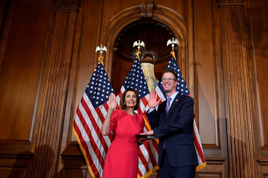 """There's a narrative within the media that somehow the Democratic Party has swung wildly to the left. I don't really think the facts back that up,"" said Rep. Derek Kilmer, Washington Democrat and chair of New Democrat Coalition. (Associated Press)"