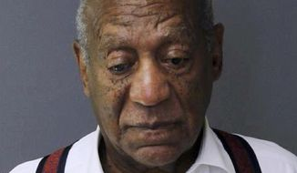 FILE - In this Sept. 25, 2018 file photo provided by the Montgomery County Correctional Facility shows Bill Cosby after he was sentenced to three-to10-years for sexual assault. An appeals court on Monday April 29, 2019, has denied Cosby's latest effort to be released from prison on bail while he fights his sex-assault conviction. (Montgomery County Correctional Facility via AP, File)