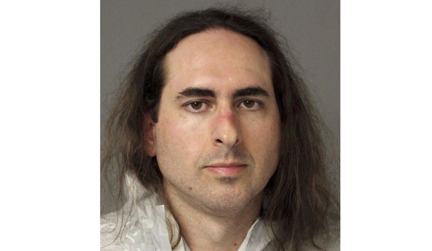 FILE - This June 28, 2018, file photo provided by the Anne Arundel Police shows Jarrod Ramos in Annapolis, Md. Attorneys for Ramos, accused of killing five people at the Capital Gazette newspaper in Annapolis, Md., said Monday, April 29, 2019, he is pleading not criminally responsible in an insanity defense. (Anne Arundel Police via AP, File)