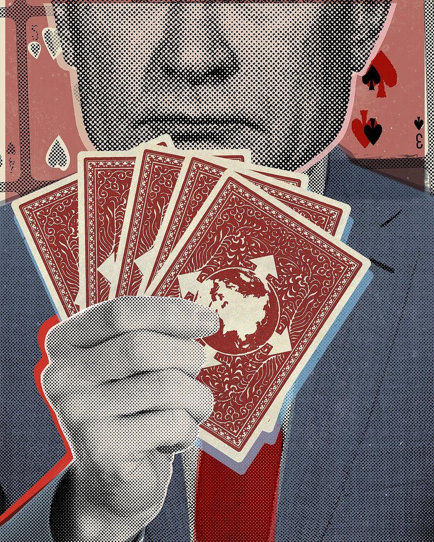 Illustration on Putin's ambitions by Linas Garsys/The Washington Times