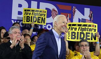 """Former Vice President and presidential candidate Joseph R. Biden offered a slogan in an interview Tuesday, """"Make America Moral Again."""" (Associated Press)"""