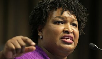 In this April 3, 2019, file photo, Former Georgia gubernatorial candidate Stacey Abrams speaks during the National Action Network Convention in New York. Abrams tells The Associated Press she will not run for a U.S. Senate seat in 2020 despite being heavily recruited by national party leaders. (AP Photo/Seth Wenig, File)