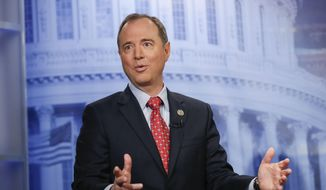 In this Nov. 7, 2017, photo, Rep. Adam Schiff, D-Calf., answers questions during an interview at The Associated Press bureau in Washington. (AP Photo/Pablo Martinez Monsivais) ** FILE **