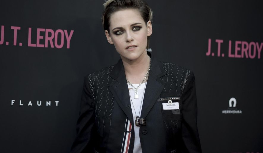 """Kristen Stewart attends the LA Premiere of """"JT LeRoy"""" at ArcLight Hollywood on Wednesday, April 24, 2019, in Los Angeles. (Photo by Richard Shotwell/Invision/AP)"""