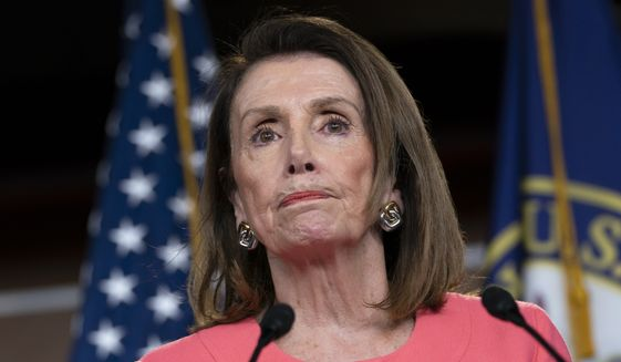 Speaker of the House Nancy Pelosi, D-Calif., speaks to the media at a news conference on Capitol Hill in Washington, Thursday, May 2, 2019. AP Photo/J. Scott Applewhite) ** FILE **