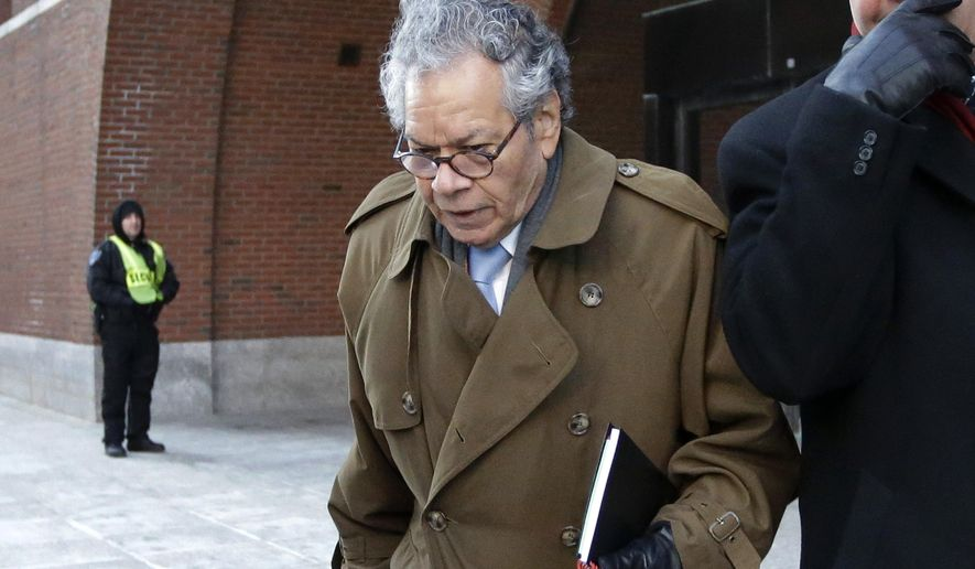 In this Jan. 30, 2019, file photo, Insys Therapeutics founder John Kapoor leaves federal court in Boston. (AP Photo/Steven Senne, File)