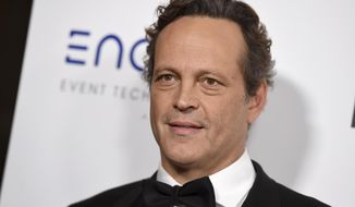 In this Thursday, Nov. 29, 2018, file photo, Vince Vaughn arrives at the American Cinematheque Award ceremony honoring Bradley Cooper at the Beverly Hilton Hotel in Beverly Hills, Calif. (Photo by Jordan Strauss/Invision/AP, File)